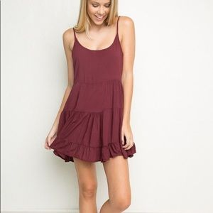 Brandy Melville Jada Swing Dress - Maroon